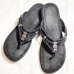 Minnetonka Black Sandals. Size 10
